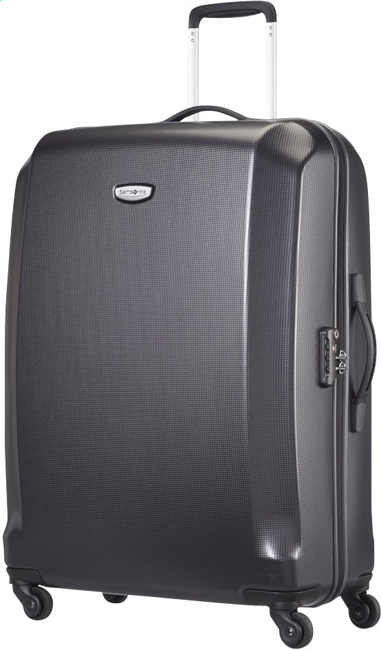 Afbeelding van Samsonite Harde reistrolley Skydro Spinner black 74 cm from ColliShop