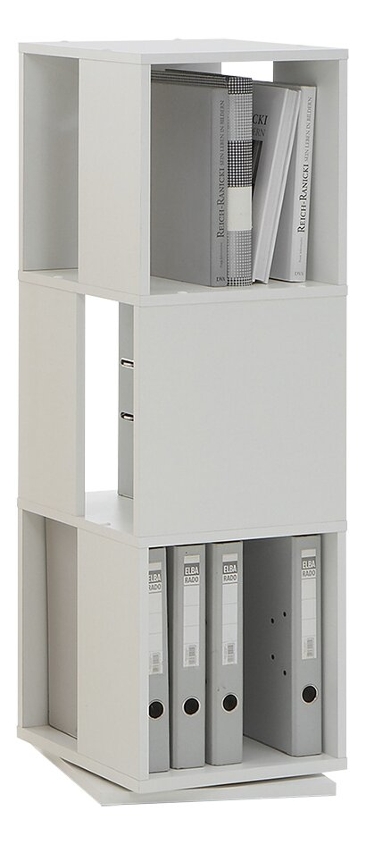 Armoire pivotante Tower à 3 compartiments blanc