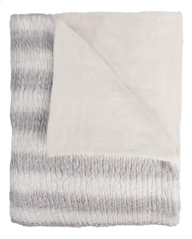 Image pour Mistral Home plaid Fuzzy L 170 x B 130 cm gris/blanc à partir de ColliShop