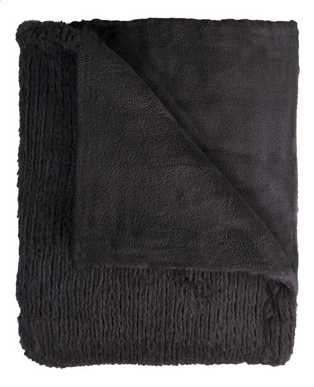Mistral Home plaid Fuzzy L 170 x B 130 cm noir