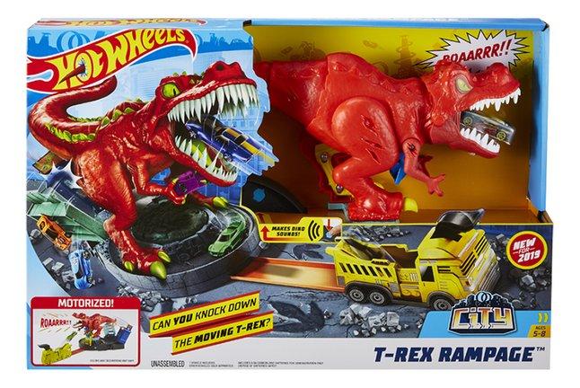 Hot Wheels acrobatische racebaan T-Rex Rampage