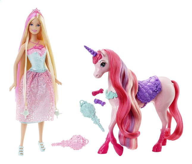 Afbeelding van Barbie speelset Endless hair Kingdom prinses en eenhoorn from ColliShop