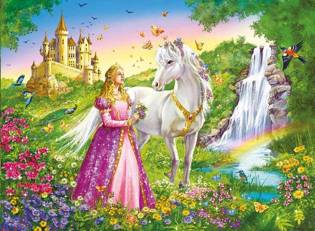 Image pour Ravensburger puzzle Princesse et cheval à partir de ColliShop