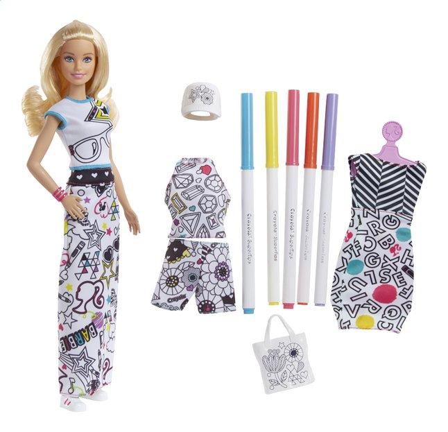 Image pour Barbie poupée mannequin Crayola fashion à partir de ColliShop