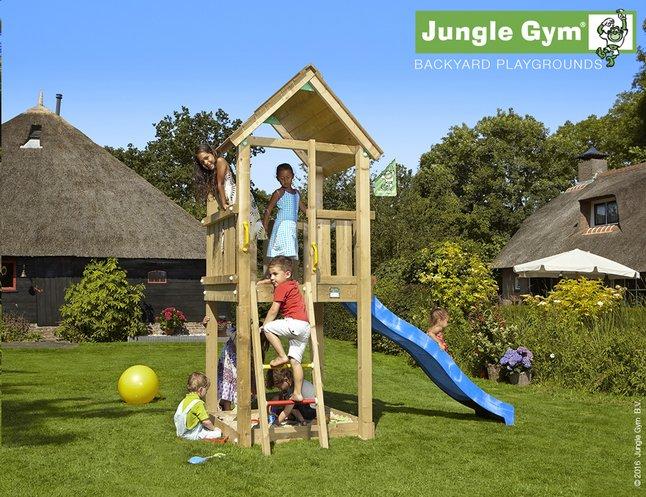 Image pour Jungle Gym tour de jeu en bois Club avec toboggan bleu à partir de ColliShop