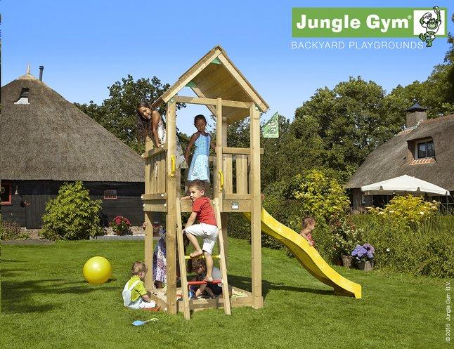 Image pour Jungle Gym tour de jeu en bois Club avec toboggan jaune à partir de ColliShop