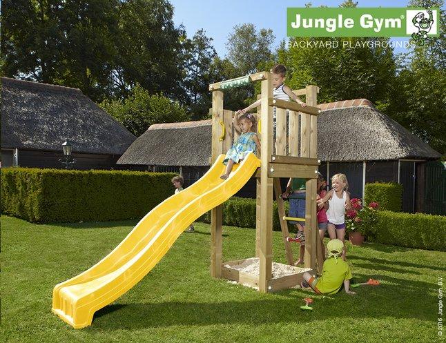 Image pour Jungle Gym tour de jeu en bois Tower avec toboggan jaune à partir de ColliShop