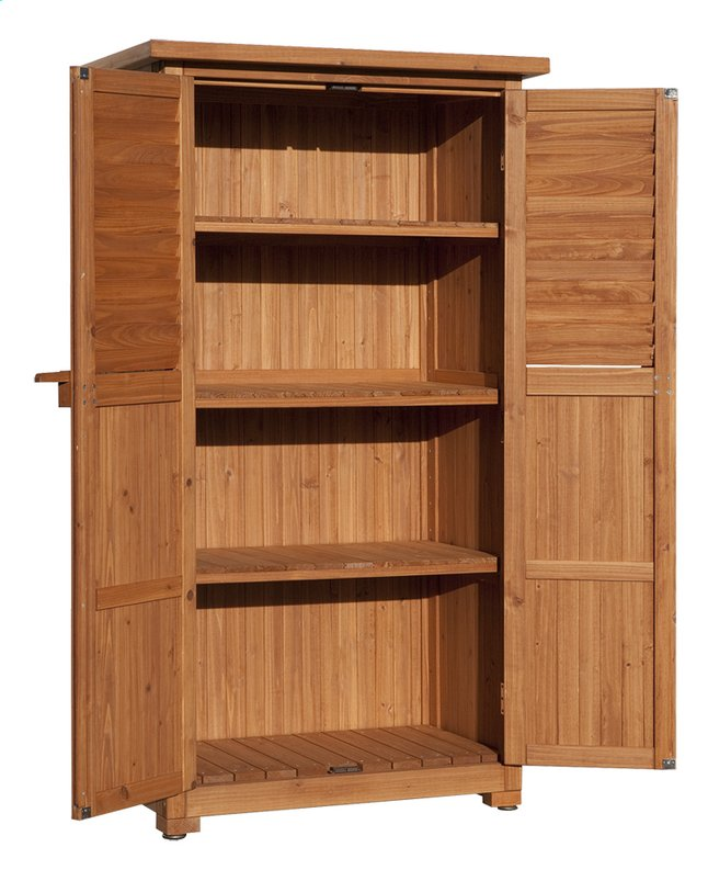 weka armoire de jardin terrasse en bois naturel pepe. Black Bedroom Furniture Sets. Home Design Ideas