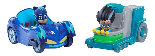 Pyjamasques 2 véhicules + 2 figurines - Yoyo & Roméo