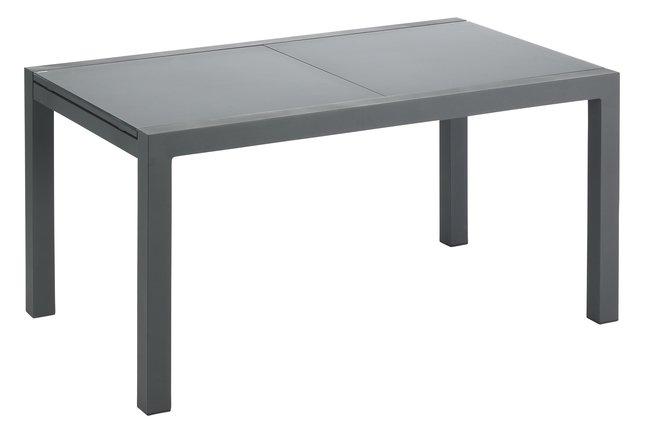 Afbeelding van Jati & Kebon verlengbare tuintafel Livorno zwart/antraciet 152 x 90 cm from ColliShop