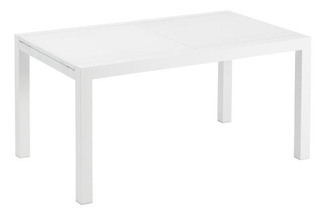 Jati Kebon Table De Jardin Rallonge Livorno Blanche 152 X 90 Cm Collishop