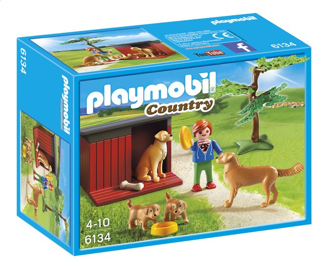 Afbeelding van Playmobil Country 6134 Golden Retrievers met puppy's from ColliShop