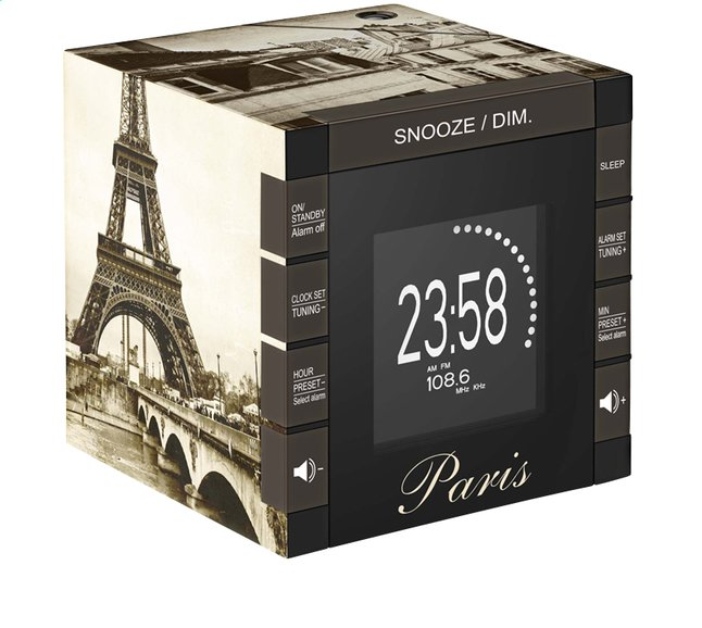 Image pour bigben radio-réveil avec projection RR70 Paris à partir de ColliShop