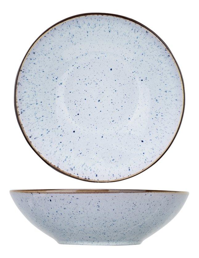 Cosy & Trendy 6 diepe borden Tessa Blue Ø 18 cm