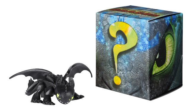 Figuur How to Train Your Dragon 3 Mystery Dragons - Toothless zwart