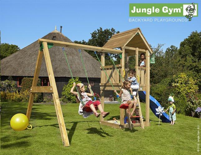 Image pour Jungle Gym portique avec tour de jeu Club et toboggan bleu à partir de ColliShop
