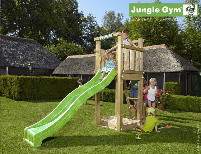Image pour Jungle Gym tour de jeu en bois Tower avec toboggan vert à partir de ColliShop