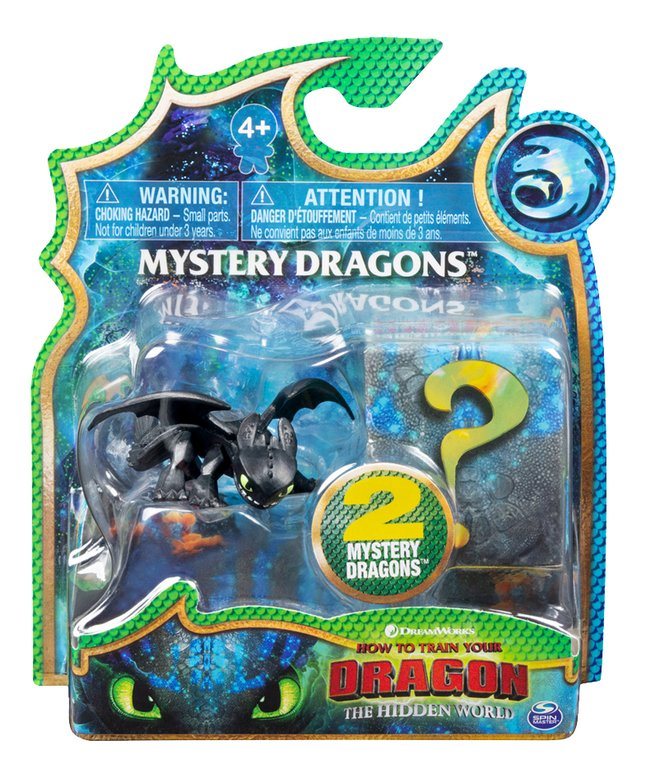 Afbeelding van Figuur How to Train Your Dragon 3 Mystery Dragons - Toothless zwart from ColliShop