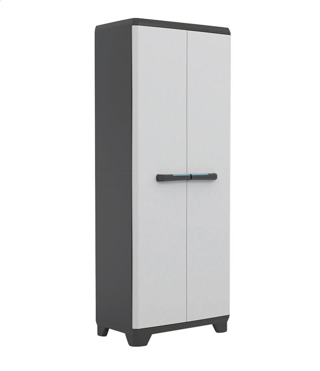 Image pour Kis Armoire en matière synthétique Linear High Cabinet gris clair/noir/bleu à partir de ColliShop