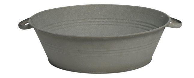 MCollections bloembak ronde kuip zink Ø 40 cm