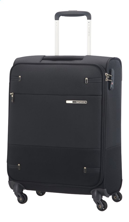 Afbeelding van Samsonite Zachte reistrolley Base Boost 40 Spinner black 55 cm from ColliShop