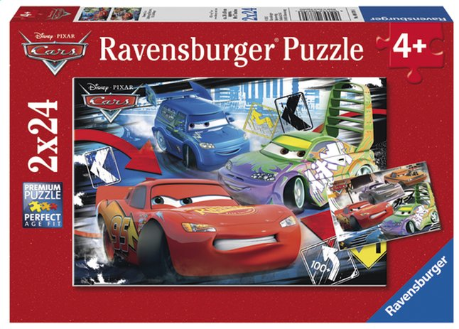 Afbeelding van Ravensburger 2-in-1-puzzel Cars - Dolle race from ColliShop