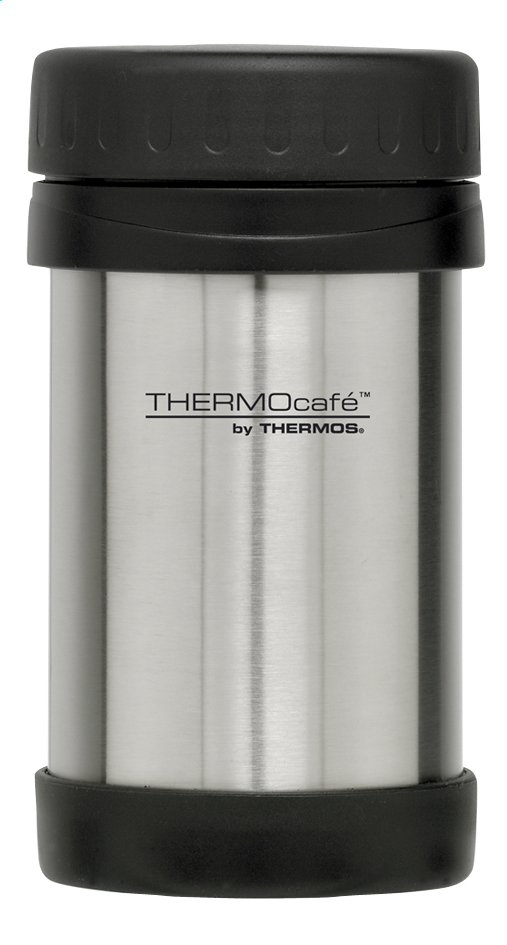 Afbeelding van Thermocafé by Thermos Voedseldrager inoxlook/zwart 0.5 l from ColliShop