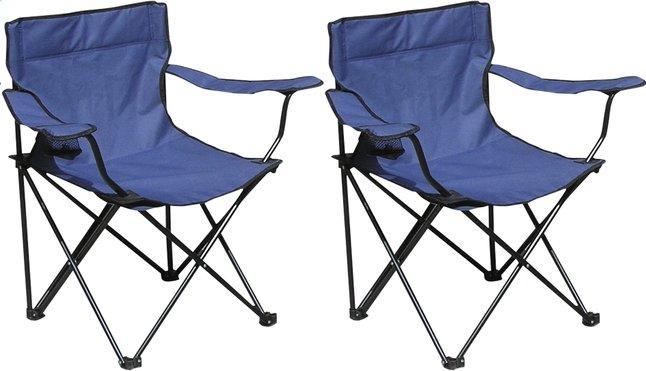 Image pour Set de 2 fauteuils de camping Bahia bleu à partir de ColliShop