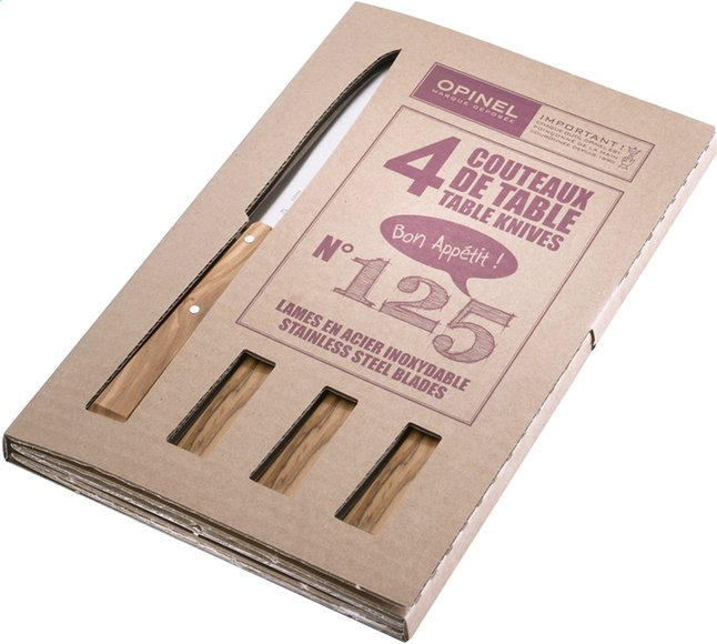 Afbeelding van Opinel 4 steakmesssen N° 125 from ColliShop