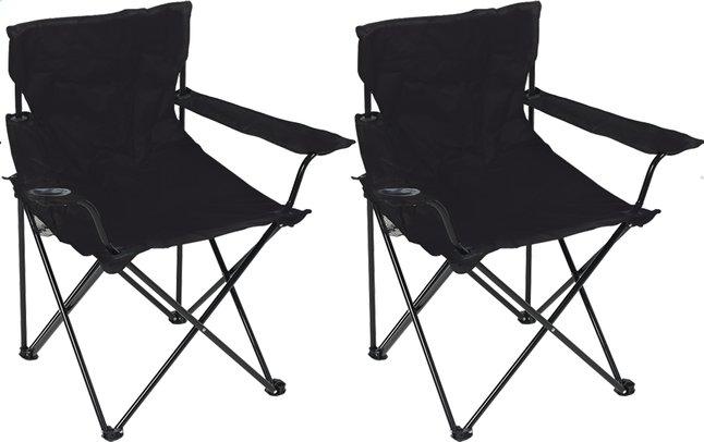 Image pour Set de 2 fauteuils de camping Bahia noir à partir de ColliShop