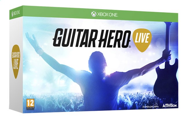 Afbeelding van XBOX One Guitar Hero Live + gitaarcontroller ENG from ColliShop