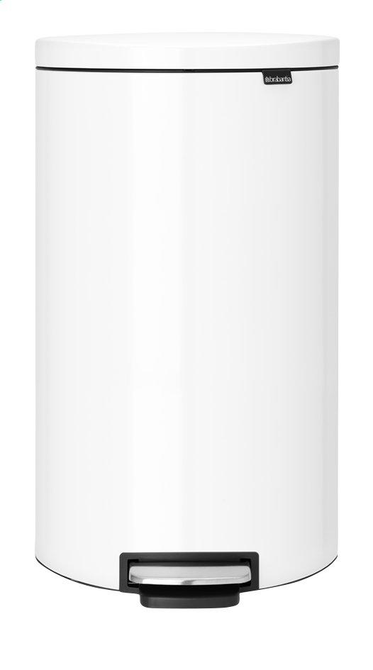 Image pour Brabantia Poubelle à pédale FlatBack+ blanc 30 l à partir de ColliShop