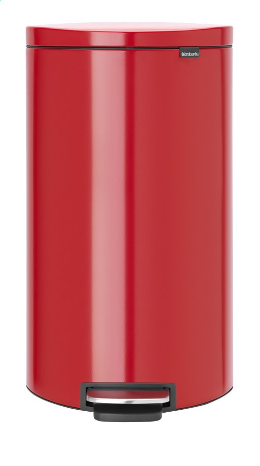 Afbeelding van Brabantia Pedaalemmer FlatBack+ passion red 30 l from ColliShop
