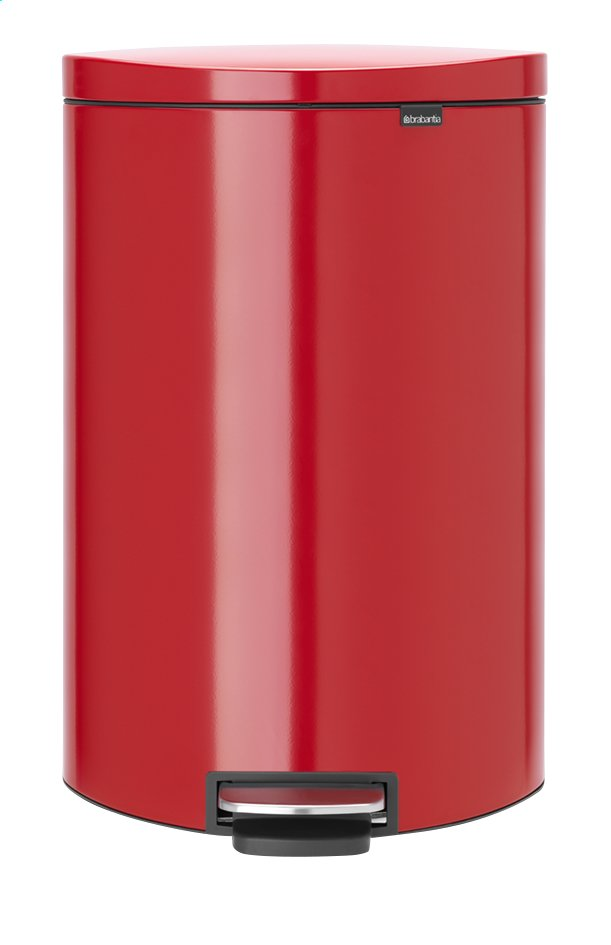 Afbeelding van Brabantia Afvalemmer FlatBack+ passion red 40 l from ColliShop