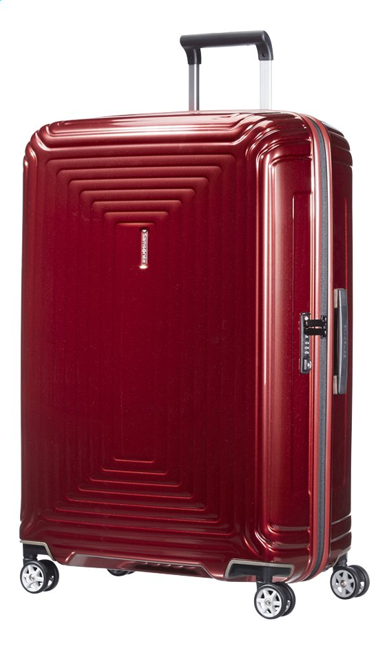 Afbeelding van Samsonite Harde reistrolley Neopulse Spinner metallic red 75 cm from ColliShop