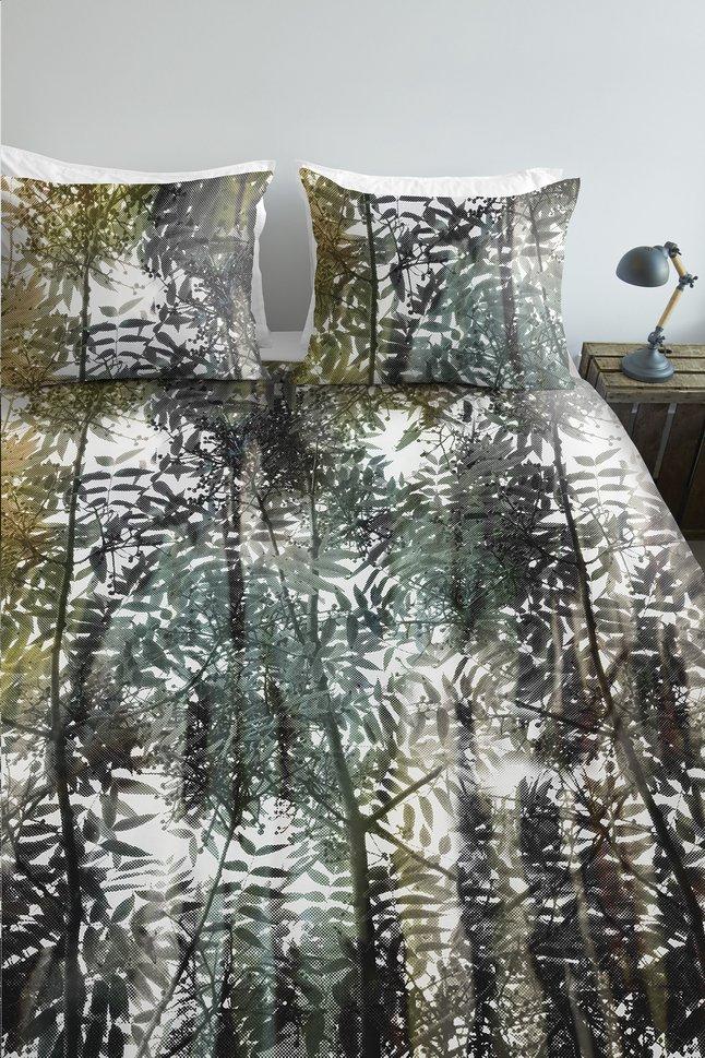 Image pour Ambiante Housse de couette Jayda green coton 200 x 220 cm à partir de ColliShop