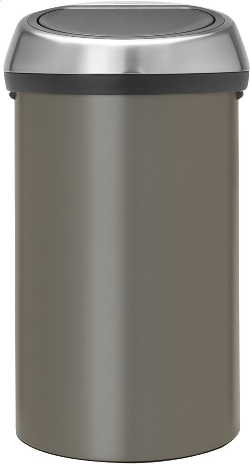 brabantia poubelle touch bin platinum 60 l collishop. Black Bedroom Furniture Sets. Home Design Ideas