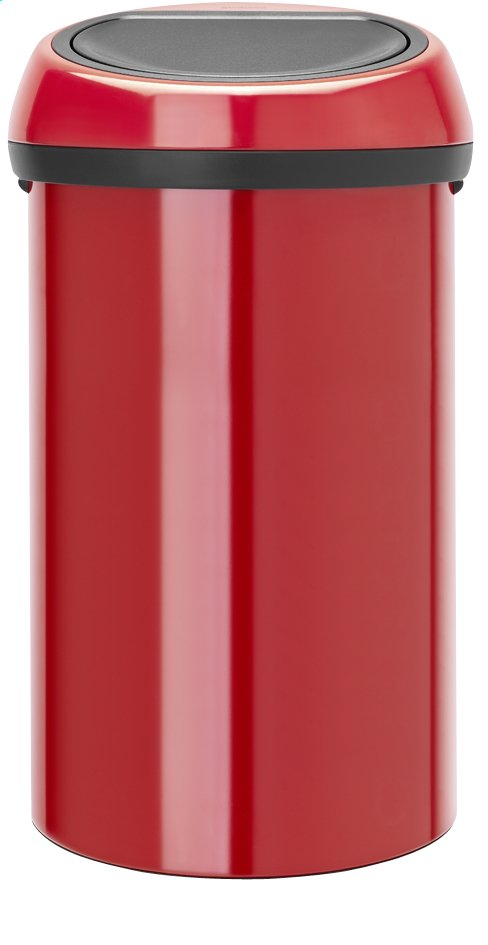 Afbeelding van Brabantia afvalemmer Touch Bin 60 l Passion Red from ColliShop