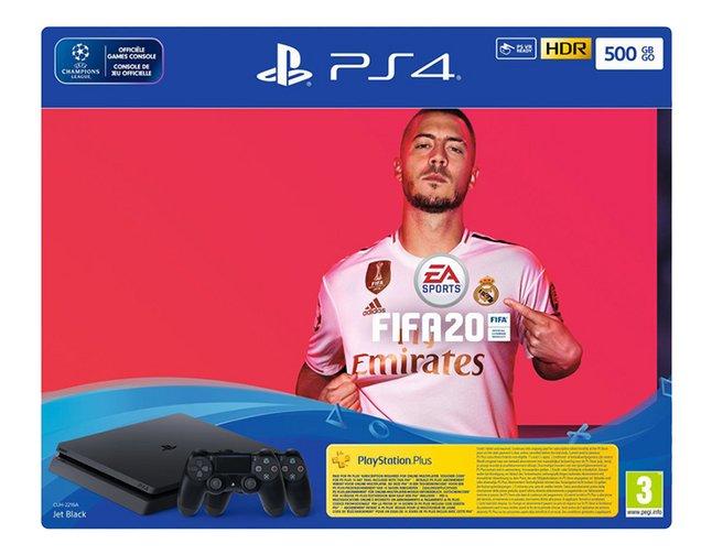 Image pour PS4 Slim 500 Go +  FIFA 20 + 2 manettes à partir de ColliShop