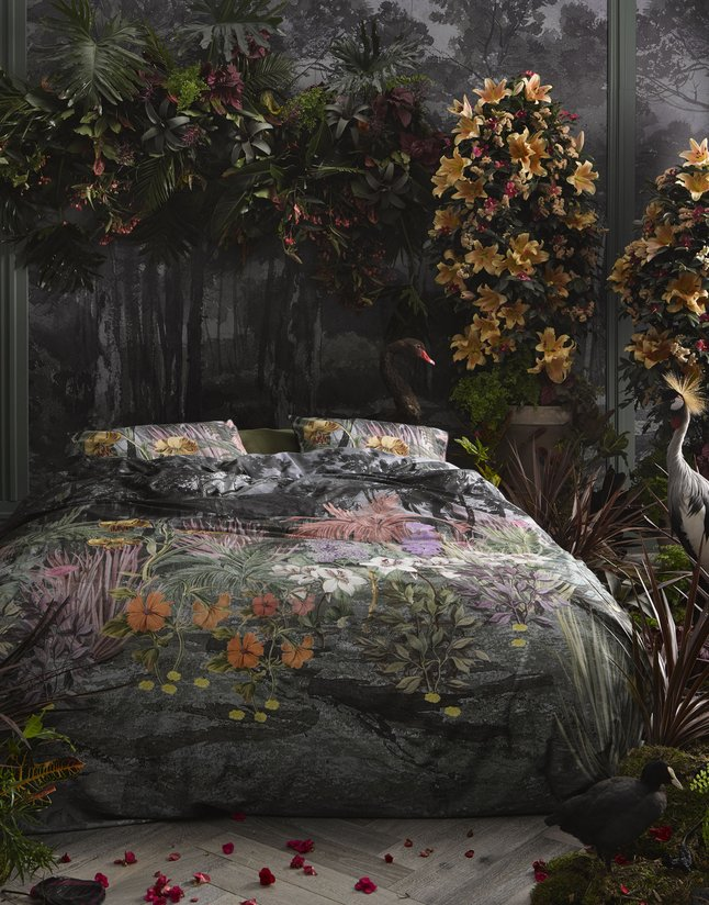 Essenza Dekbedovertrek Igone green katoensatijn 240 x 220 cm