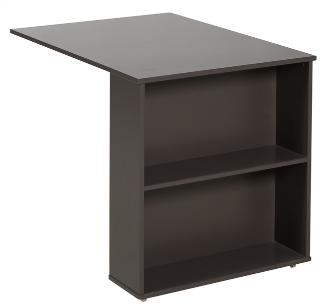 uitschuifbaar bureau pino taupe collishop. Black Bedroom Furniture Sets. Home Design Ideas
