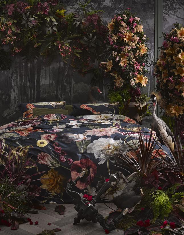 Essenza Housse de couette Filou satin de coton dark blue 240 x 220 cm