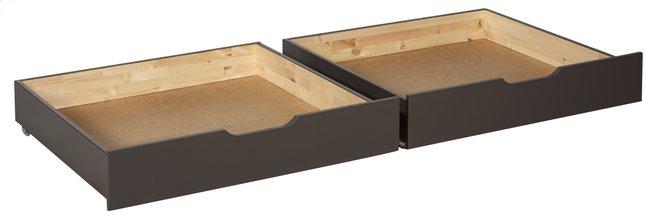 Image pour 2 tiroirs de rangement Pino taupe à partir de ColliShop