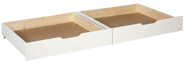 Image pour 2 tiroirs de rangement Pino blanc à partir de ColliShop