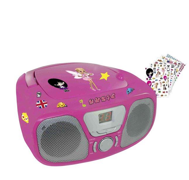 Image pour Bigben radio/CD portable CD46 rose à partir de ColliShop