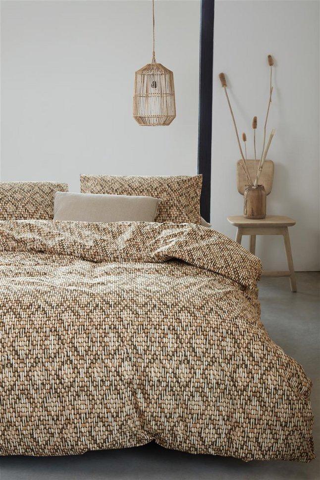 Afbeelding van Beddinghouse Dekbedovertrek Willow sand katoen from ColliShop