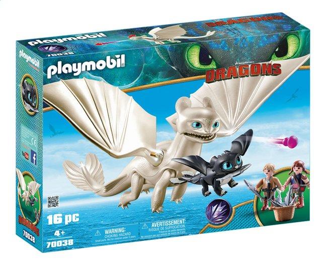 PLAYMOBIL Dragons 70038 Furie Éclair et bébé dragon avec les enfants
