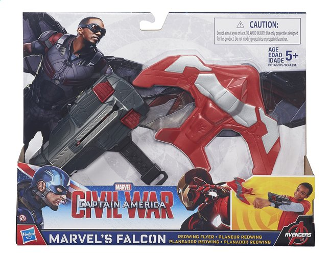 Afbeelding van Speelset Captain America: Civil War Mission Gear Marvel's Falcon Redwing Flyer from ColliShop