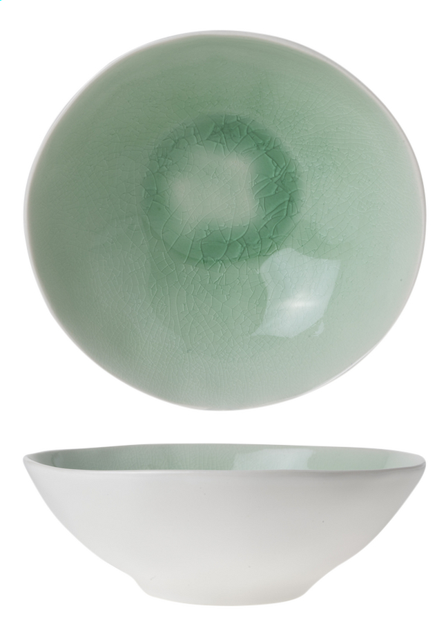 Afbeelding van Cosy & Trendy 6 diepe borden Spirit Green Ø 19,5 cm from ColliShop