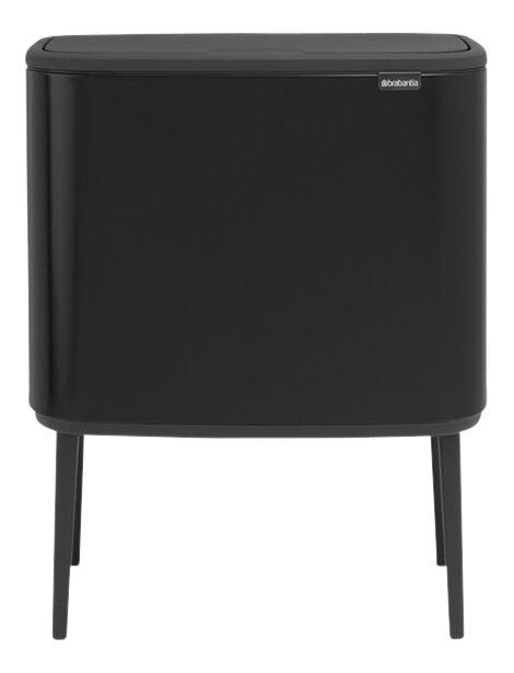 Afbeelding van Brabantia Afvalemmer Touch Bin Bo matt black 11 l + 23 l from ColliShop